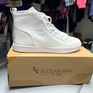 High top koolaburra white sneakers.